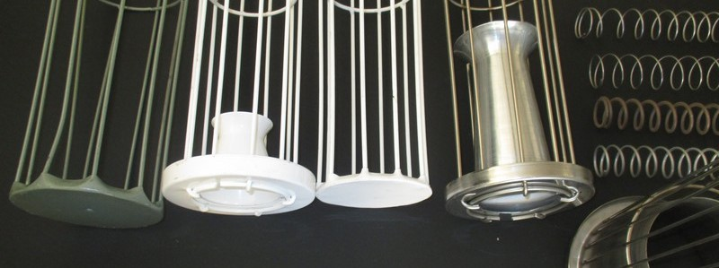Every cage carries system for the proper suspension of filter bags , venturi nozzle for the acceleration of cleaning pulse, bottom and cap.