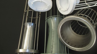 Metal wire cages are common supporting equipment for filter bags